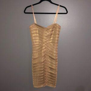 Gold BCBG dress